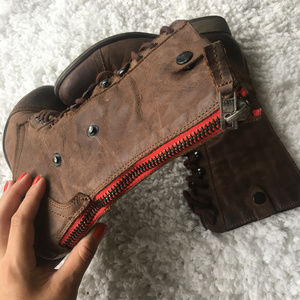 Steve Madden Brown Leather Cablee Boots Size 8